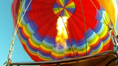 Hot Air Balloon Burner Burst 1 - stock footage
