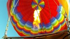 Hot Air Balloon Burner Burst 1 Stock Footage