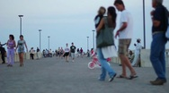 People Walking - Happy Family Stock Footage