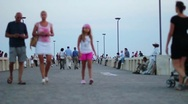 People Walking - Happy Girl, Happy family Stock Footage