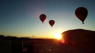 Stock Video Footage of Hot Air Balloons Early Morning 3