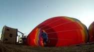 Stock Video Footage of Hot Air Balloons Early Morning 5