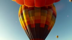 Stock Video Footage of Hot Air Balloons in Flight