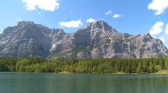 Mountain lake, wide shot Stock Footage