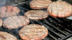 Grilling Burgers - stock footage