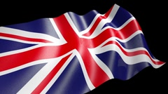 UK Flag loop Stock Footage