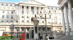 Bank of England, Threadneedle Street, London 50i Stock Footage