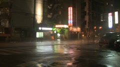 Hurricane Winds And Torrential Rain Lash Town Stock Footage