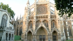 Westminster Abbey London 50i Stock Footage