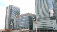 Canary Wharf Financial District London 50i Stock Footage