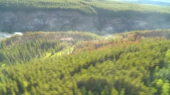 Aerial, gyro-stabilized, #7, flight over forest fire Stock Footage