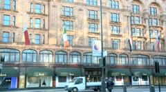 Harrods Store London 50i Stock Footage