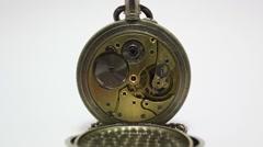 Pocket watch mechanism _2 Stock Footage