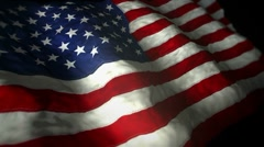 Flag USA Dark loop 1080p Stock Footage
