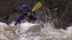 Kayak Idaho Big White Water 4 Stock Footage