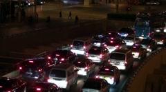 traffic shanghai - nightshot - stock footage