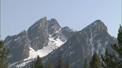 Sawtooth Mountain Peaks 2 - stock footage
