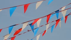 Bunting Banners - stock footage