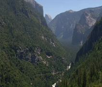 Park Ranger Overlooking Yosemite Valley - stock footage