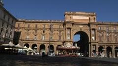 Italy, Tuscany, Florence, Piazza della Repubblica, Arcone Stock Footage