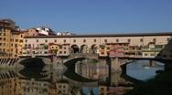 Italy, Tuscany, Florence,  Ponte Vecchio Stock Footage