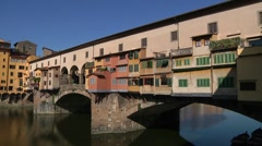 Italy, Tuscany, Florence,  Ponte Vecchio - stock footage