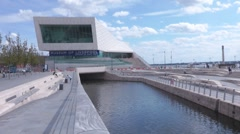The Museum of Liverpool Pier Head, Liverpool England UK Stock Footage