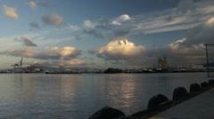 Amazing Sky over Honolulu Harbor Stock Footage