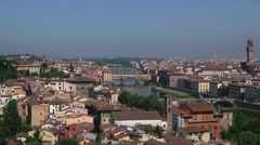 Italy, Tuscany, Florence,  Ponte Vecchio Stock Footage