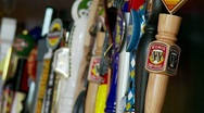 Beer Tap Handles Stock Footage