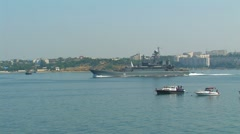 """Stock Video Footage of Guards large landing ship """"Azov"""""""