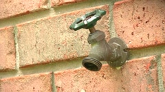 Spigot Leaking Stock Footage