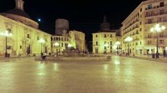Valencia Virgin Square TL A Stock Footage