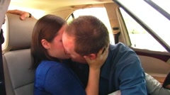 Young Couple Making Out In Car- 1 Stock Footage