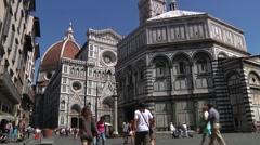 Italy, Tuscany, Florence, Basilica di Santa Maria del Fiore Stock Footage