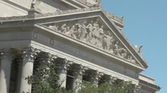 The National Archives building in Washington DC. Stock Footage