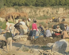 Archaeological dig - stock footage