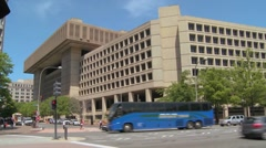 Establishing shot of the FBI building in Washington D.C. Stock Footage