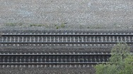 Train top view Stock Footage