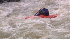 Whitewater Kayak SloMo 12b Stock Footage