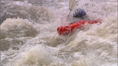 Whitewater Kayak 11 Stock Footage