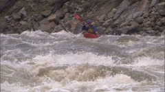 Whitewater Kayak 14 Stock Footage