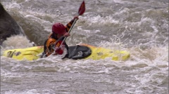 Whitewater Kayak 9 Stock Footage