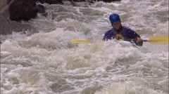 Whitewater Kayak 13 Stock Footage