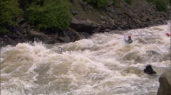 Whitewater Kayak 15 Stock Footage
