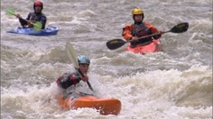Whitewater Kayak SloMo 6 Stock Footage