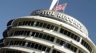 Stock Video Footage of Capitol Records Low Dutch Angle