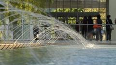 Outdoor Fountain Stock Footage