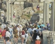Tourist crowd at ruins Footage