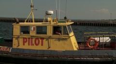 Pilot tug rescue area Duluth - stock footage